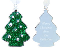 Glitter Galore Green Tree Ornament