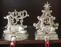 Pair Reindeer Stocking Hangers