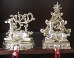 Pair Reindeer Stocking Hangers