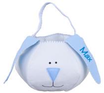 Blue Eared Bunny Basket