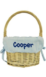 Blue Medium Easter Basket