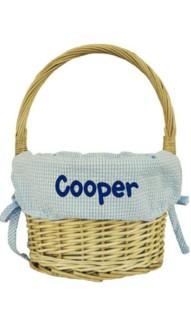 Blue Medium Easter Basket
