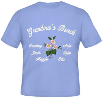 Bunch Embroidered Family Shirt
