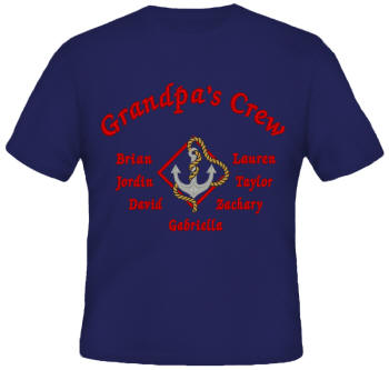 Crew Embroidered Family Shirt