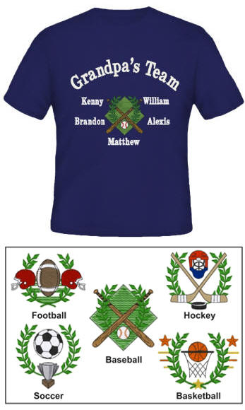Team Embroidered Family Shirt