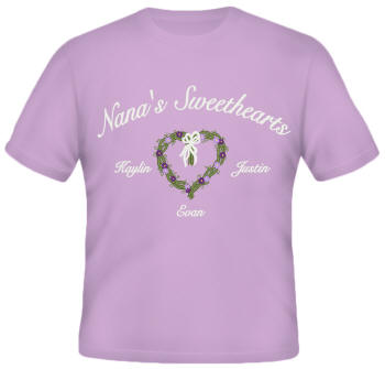 Sweethearts Embroidered Family Shirt