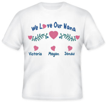 We Love Embroidered Family  Shirt