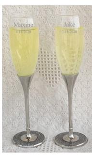 Glitter Galore Champagne Toasting Glasses