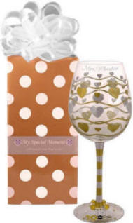 Personalized Bride to Be Wine Glass with Charm