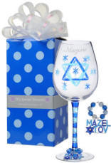 Mazel Tov Wine Glass