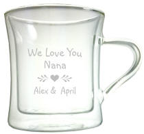 Personalized Diner Double Wall Glass