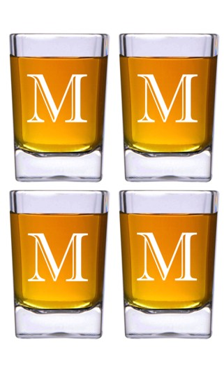 Square Shot Glass Set of Four