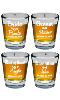 Wedding Party Shot Glass Set V1