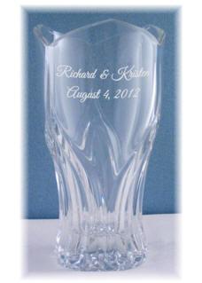 Laser Etched 10 1/2 in. Ancona Vase