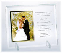 Personalized 4 x 6 Flat Beveled Glass frame