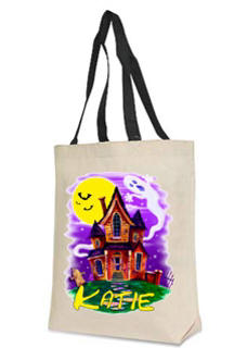 Haunted House Personalized Halloween Bag