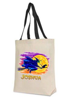 Flying Witch Personalized Halloween Bag