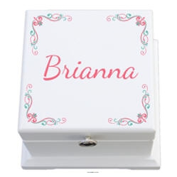 Personalized Color Printed Wooden Keepsake Box