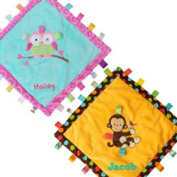Personalized Taggies Cozy Blanekts for Baby