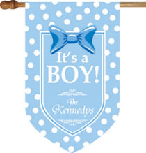 Personalized Its A Boy House Flag