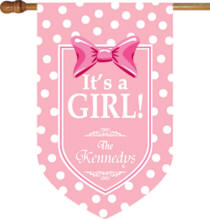 Personalized Its A Girl House Flag