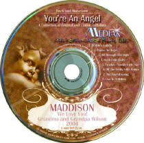 You're an Angel Kids Personalized Music CD