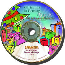 Christmas is Coming Personalized Kids Music CD