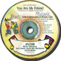 You Are My Friend Kids Personalized Music CD