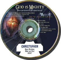 God is Mighty Personalized Music CD