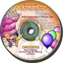 Hip-Hip Hooray It's Your Birthday Personalized Kids Music CD