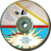 Hockey Personalized Music CD
