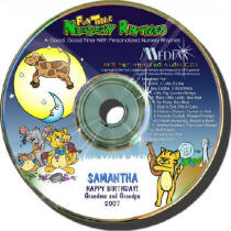 Nursery Rhymes Personalized Music CD