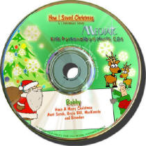 How I Saved Christmas Personalized Kids Music CD