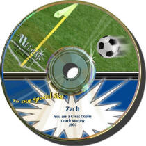 Soccer Personalized Play by Play CD