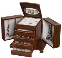 Caprice Walnut Jewelry Box