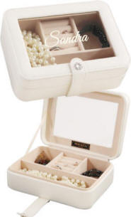 Girls Jewelry Case with glass top