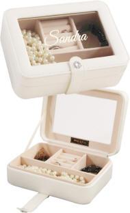 Rio Ivory Glass Top Jewelry Box