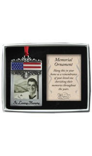 Patriotic Memorial Photo Ornament