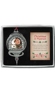 Christmas in Heaven Photo Ornament with Message