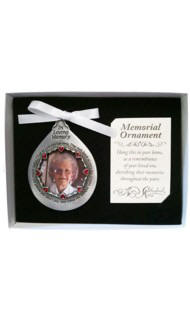 Personalized Those We Love Tear Shaped Photo Ornament