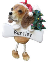 Beagle Dangling Dog Ornament