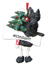 Scottie Dangling Dog Ornament