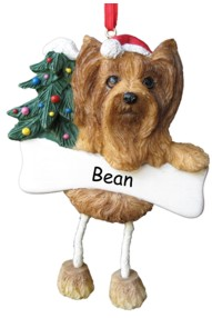 Yorkie Dangling Dog Ornament