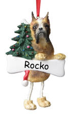 Boxer Dangling Dog Ornament
