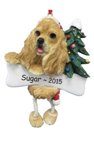 Cocker Spaniel Dangling Dog Ornament