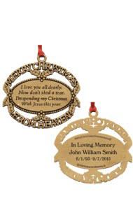 Gold Christmas From Heaven Ornament