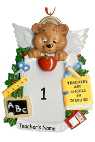 Personalized Angel Teacher Ornament