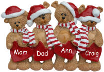 4 Bears Christmas Decoration