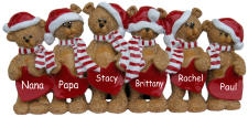 6 Bears Christmas Decoration
