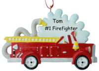 Personalized Fire Truck Christmas Ornament